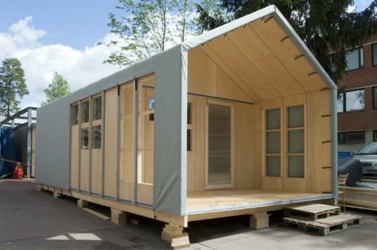 Liina новая модульная конструкция временного жилья