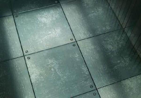 Metal tile flooring