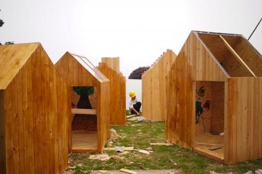 Студенты использовали живой бамбук для построения «Города в Небе» в Китае