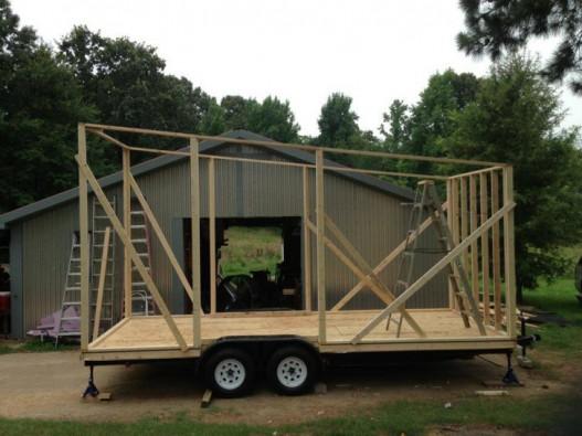 Как сделать дом на колесах прицеп