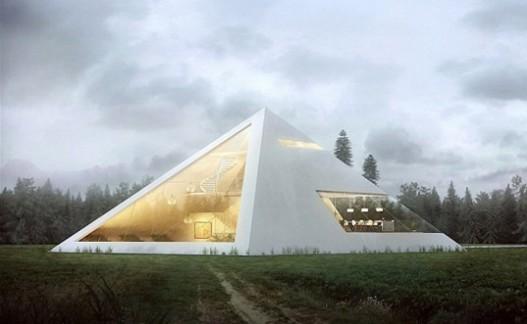 Удивительный дом-пирамида, достойный фараона, от мексиканского архитектора