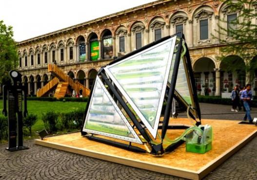 Для выставки в Милане построен навес с водорослями, который производит биомассу и кислород