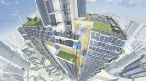 ThyssenKrupp представляет революционную концепцию разнонаправленного лифта