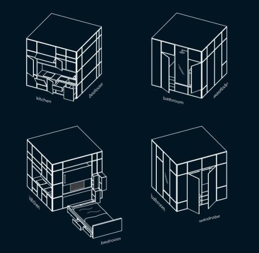 Cubitat: новая концепция супер-компактного дома