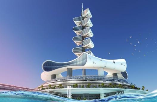 Гранд Канкун: первый проект морского эко-острова, который очищает океан и генерирует энергию