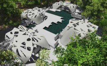 Американский архитектор представил проект роскошного 3D-печатного особняка с бассейном