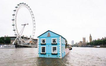 Новый плавающий дом класса люкс на Темзе