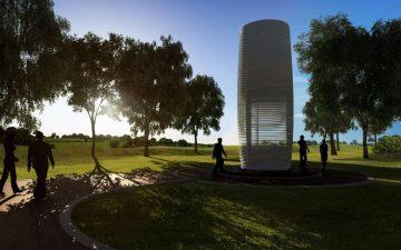 Новая башня, которая не только очищает воздух, но и превращает смог в украшения