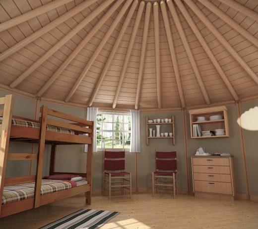 Новые экологичные и доступные по цене сборные дома-юрты