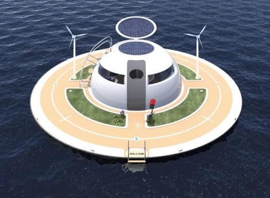 UFO: новая концепция плавающего дома для тех, кто не хочет зависеть от обстоятельств