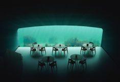 Первый в Европе подводный ресторан с видом на морское дно