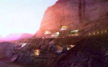 Wadi Rum Resort: эко-курорт класса люкс, расположенный прямо в скале