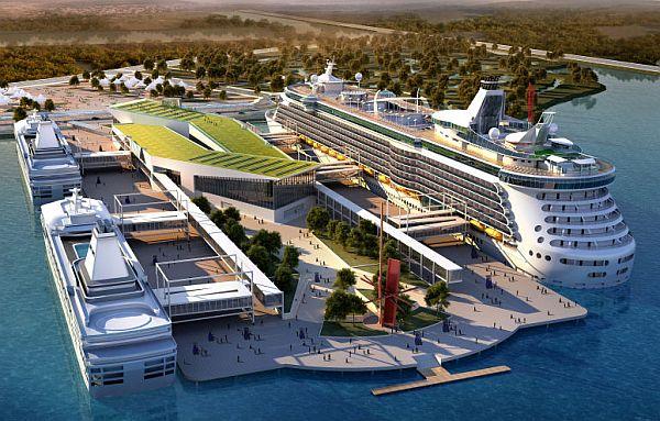 Новый круизный терминал международного значения на острове Сян Юнь, Китай