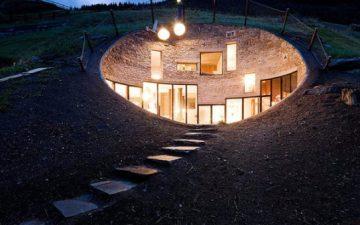 Потрясающий швейцарский домик построен под землей