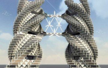 Спиральный эко-небоскреб обеспечит водой, продовольствием и энергией город Нойда