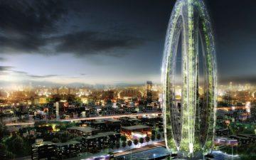 Самодостаточный небоскреб Bionic-Arch для Тайчжуна от Винсента Каллебо