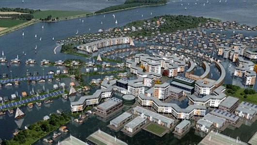 FLOATEC разрабатывает новую технологию плавающих домов для низменных территорий