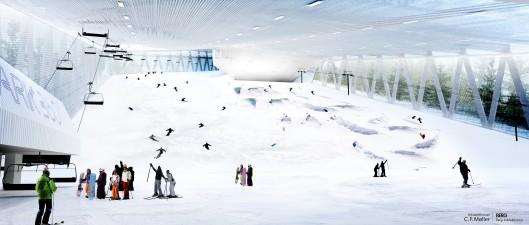 Skipark 360°: наклонный крытый горнолыжный курорт будет оснащен «зелеными» технологиями