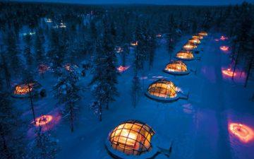 Отдых в Деревне Иглу: романтический вечер с видом на северное сияние