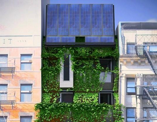 Новый дом ABC No Rio: на солнечной энергии и с пышным зеленым фасадом