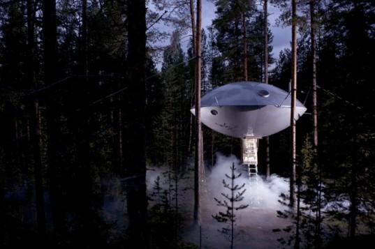 Отель НЛО: новые апартаменты в Treehotel по форме напоминают летающую тарелку