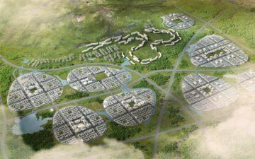 gmp Architekten заложил первый камень для нового солнечного эко-парка в Циндао, Китай