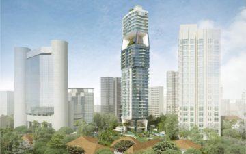 Небоскреб Scotts Tower от UNStudio станет новым городским кварталом