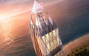 Небоскреб Ad Astra с вертолетной станцией и блестящим фасадом будет построен в Грузии