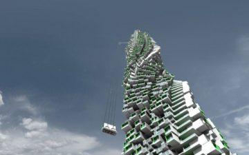 Небоскреб с подвижными жилыми модулями от Unit Fusion скоро появится в окрестностях Гонконга