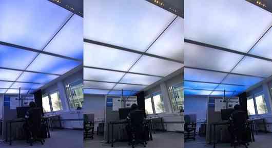 Потолочные панели со светодиодами воссоздают естественные условия освещения в офисе