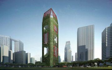 Oasia Downtown: тропическая зелень поверх бетона и стекла