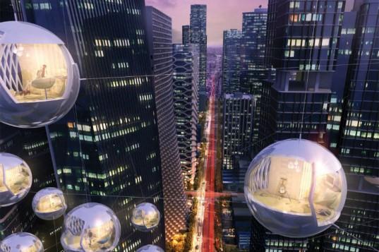 {LIVE Between}: мобильные отели-капсулы, в которых можно жить рядом с небоскребами