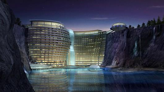 Пятизвездочный отель с водопадом будет построен в заброшенном карьере
