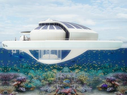 Солнечный Плавучий Курорт: великолепный образец устойчивого строительства и современного дизайна