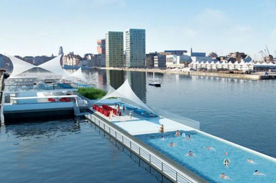 Плавающий эко-бассейн Badboot откроется этим летом в Антверпене