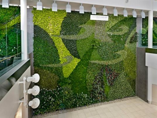 Огромная воздухоочистительная живая стена была представлена в аэропорте Эдмонтона