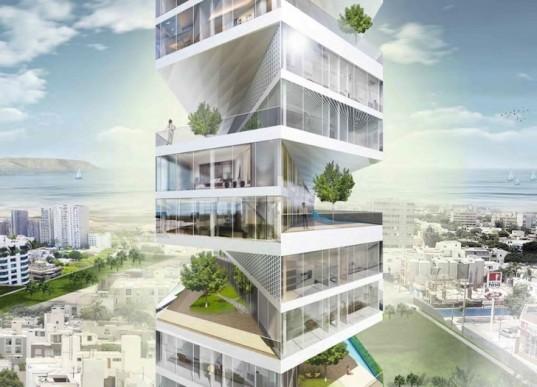 Writhing Tower: новый интересный проект жилого дома для перенаселенной Лимы
