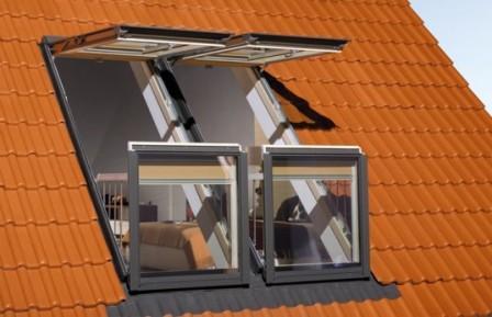 Новые мансардные окна от Fakro легко превращаются в балкончики на крыше