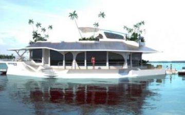 Orsos Island: роскошный плавающий дом, который питается от солнечной энергии