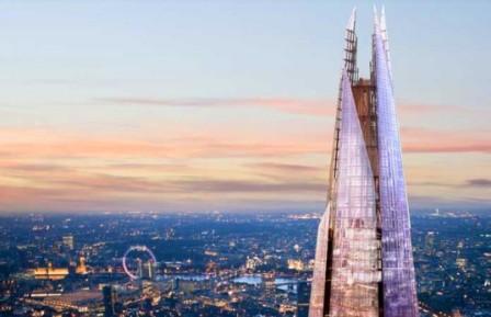 Новый небоскреб Shard в Лондоне назван самым высоким зданием в Европе