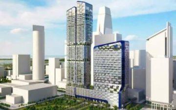 Сотовидный фасад небоскреба от UNStudio: больше света и меньше энергопотребления