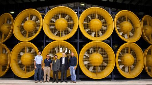 Ученые построили стену с ветрогенераторами для тестирования стройматериалов