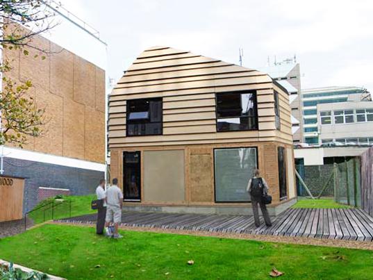 В Великобритании будет построено здание, состоящее из строительных отходов
