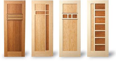 Красивые бамбуковые двери от компании Green Goods