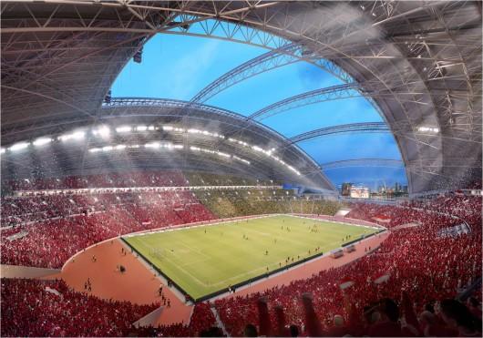 В Сингапуре будет стадион с самой большой куполообразной крышей