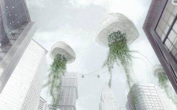pH Conditioner: плавающие небоскребы-медузы очищают воздух и производят пресную воду