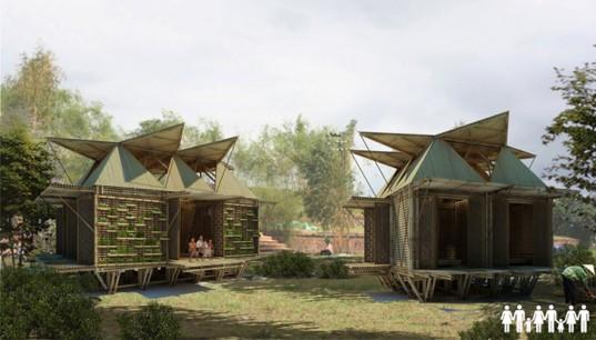 Вьетнамские архитекторы разработали дизайн бамбуковых домов, которым не страшны наводнения и паводки