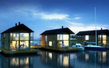 Marinetek Group представляет первую в Финляндии плавучую деревню