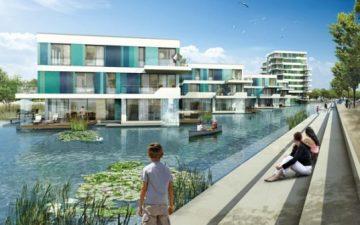 В Гамбурге строится жилой комплекс на воде Waterhouses