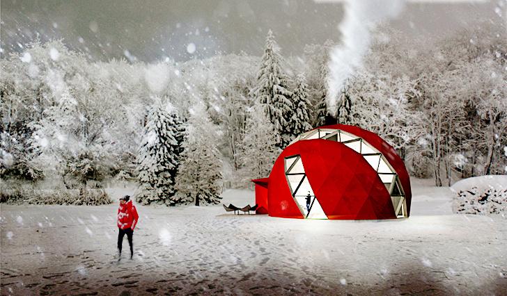 Geodesic DOM(E): новый вариант сборного жилого дома, который подходит для любого климата